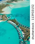 aerial view of green water and...   Shutterstock . vector #113933152