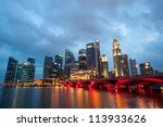 SINGAPORE - APRIL 23: Singapore has a highly developed market-based economy and is a center for commerce in Asia and globally. April 23, 2011 in Singapore, Singapore - stock photo