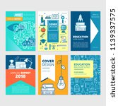 brochure cover set and flyer... | Shutterstock .eps vector #1139337575