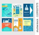 brochure cover set and flyer... | Shutterstock .eps vector #1139337575