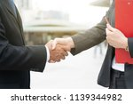 close up hand of business man... | Shutterstock . vector #1139344982