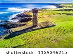 an aerial view over ahu tahai... | Shutterstock . vector #1139346215