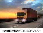 truck run on road ... | Shutterstock . vector #1139347472