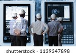 engineer group meeting with... | Shutterstock . vector #1139347898