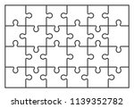 puzzle jigsaw set of 24 pieces  ... | Shutterstock .eps vector #1139352782