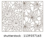 set of contour illustrations of ... | Shutterstock .eps vector #1139357165
