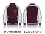 varsity jacket design... | Shutterstock .eps vector #1139357348