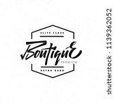 fashion boutique premium  ... | Shutterstock . vector #1139362052