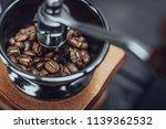 Wooden Coffee Grinder Vintage...