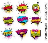 back to school wow stop calm... | Shutterstock .eps vector #1139370098