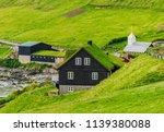 scandinavian house with green... | Shutterstock . vector #1139380088