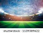 lights at night and stadium 3d... | Shutterstock . vector #1139389622