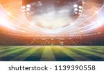 lights at night and stadium 3d... | Shutterstock . vector #1139390558
