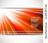 eps10 vector light rays... | Shutterstock .eps vector #113939716