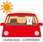 risk of heat stroke. dog...   Shutterstock .eps vector #1139400302