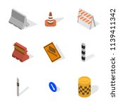 set of different signs road... | Shutterstock . vector #1139411342