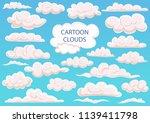 cartoon clouds at sky. big set...   Shutterstock .eps vector #1139411798