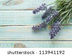 flowers on vintage wood... | Shutterstock . vector #113941192