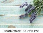 Flowers On Vintage Wood...