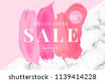 vector sale banner with text on ... | Shutterstock .eps vector #1139414228