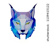 low poly lynx  | Shutterstock .eps vector #1139415122