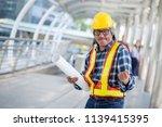 successful engineer or engineer ... | Shutterstock . vector #1139415395