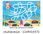 labyrinth game  help the... | Shutterstock .eps vector #1139415572