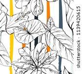 tropical  modern stripes motif. ... | Shutterstock .eps vector #1139420615