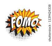 abbreviation fomo  fear of... | Shutterstock .eps vector #1139424338