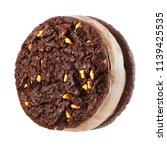 ice cream sandwich with... | Shutterstock . vector #1139425535