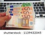 euro money and computer... | Shutterstock . vector #1139432045
