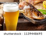 beer glass with beer on a... | Shutterstock . vector #1139448695