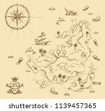 aged medieval isle place plan... | Shutterstock .eps vector #1139457365