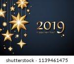2019 happy new year background...   Shutterstock . vector #1139461475