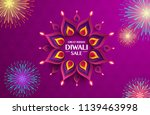 great indian diwali festival... | Shutterstock .eps vector #1139463998