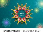 great indian diwali festival... | Shutterstock .eps vector #1139464112