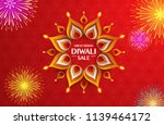 great indian diwali festival... | Shutterstock .eps vector #1139464172