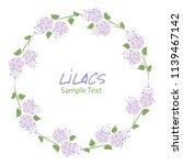 lilac flower wreath. logo... | Shutterstock .eps vector #1139467142