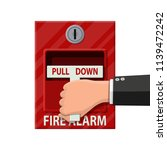hand switch fire alarm system.... | Shutterstock . vector #1139472242