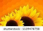 sunflowers background  romantic ... | Shutterstock .eps vector #1139478758