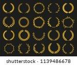 set of laurel wreaths. heraldic ... | Shutterstock .eps vector #1139486678