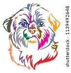 colorful decorative portrait of ... | Shutterstock .eps vector #1139492648
