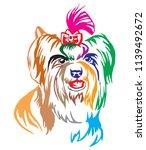 colorful decorative portrait of ... | Shutterstock .eps vector #1139492672