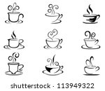 coffee cup shapes | Shutterstock .eps vector #113949322