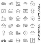 thin line vector icon set  ... | Shutterstock .eps vector #1139500562