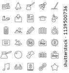 thin line vector icon set  ... | Shutterstock .eps vector #1139500736