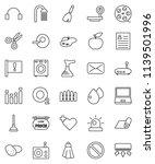thin line vector icon set  ... | Shutterstock .eps vector #1139501996
