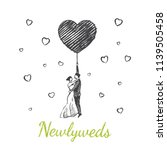 newlyweds concept sketch ... | Shutterstock .eps vector #1139505458