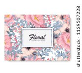 botanic card with wild flowers  ... | Shutterstock .eps vector #1139507228