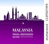 malaysia travel destination | Shutterstock .eps vector #1139507495
